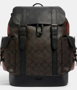 **NWT**Hudson Backpack In Signature Canvas With Varsity Stripe MSRP $698