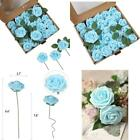 Emania Of Love Artificial Flowers 25Pcs Real Looking Fake Roses With Stems For D