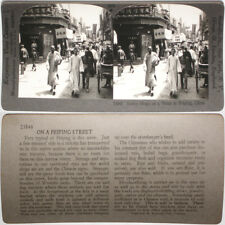 Keystone Stereoview of Native Shops in Peiping, CHINA From RARE 1200 Card Set