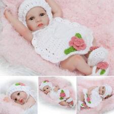 "10 "" Körper lebensechte Silikon Vinyl Reborn Baby Girl Neugeborene Puppe heiß"