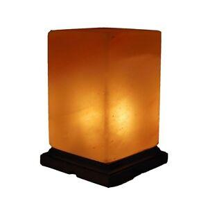 Rectangle Crystal Salt Bedside Table Salt Lamp 100% Pure Himalayan Crystal Salt