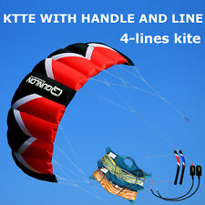 3㎡ Kitesurfing 4-line Stunt Power Trainer Kite for Kiteboards,Beach,Traction
