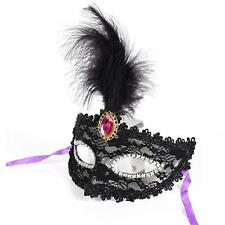 MASQUERADE PARTY PROM VENETIAN DRESS FEATHER LACE EYE FACE MASK Halloween