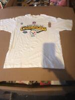 Official Locker Room Shirt Pittsburgh Steelers Super Bowl XLIII Champions Large