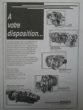 8/1986 PUB AVCO LYCOMING TURBOSHAFT TURBOFAN TURBOPROPULSEUR ORIGINAL FRENCH AD