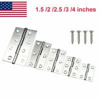 4-16PCS 5 Sizes Stainless Steel Door Corner Hinges with Stainless Steel Screws
