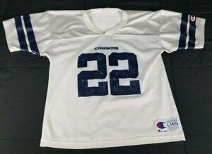 Emmitt Smith Dallas Cowboys Champion White Jersey Size Youth Large