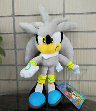 Sonic Silver the Hedgehog 9'' Stuffed Animal Cartoon Game Character Plush Toy