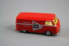 V543 Majorette 1/60 ref 244 rare Fourgon volkswagen Cafe Hag pas de boite neuf