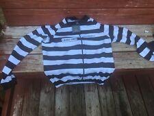 Jolly Wear Alcatraz Cycling Long Sleeve Jersey, Prison Stripes, 2XL