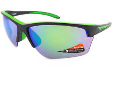 BOLLE - FLASH sports sunglasses Matte Black-Green / Emerald Mirror Lenses 12213