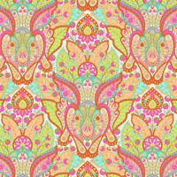 HALF YARD Free Spirit Tula Pink Slow Steady Hare Rabbit Orange Crush