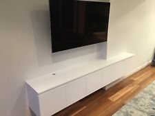 """Meta"" Custom Made POLYURETHANE Entertainment TV Unit Wall Mounted TV Unit"