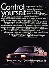 1985 VW Volkswagen Jetta Original Advertisement Print Art Car Ad J752