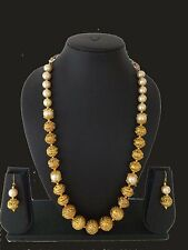 Indian Fashion Jewelry Mala Necklace Bollywood Ethnic Gold Plated Traditional