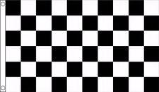 Black and White Checkered Check 3'x2' Flag