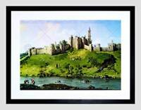 OLD MASTER CANALETTO ALNWICK CASTLE NORTHUMBERLAND UK FRAMED PRINT B12X12473