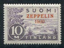 FINLAND 1930 VERY SCARCE ZEPPELIN SCOTT C1 BEAUTIFUL STAMP MVLH POSSIBLY MNH