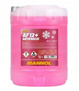 MANNOL 10L AF12+ Red Antifreeze Coolant Concentrated to -40°C Longlife