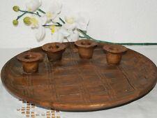 Kerzenteller Rustica Kerzenhalter Keramik groß für 4 Kerzen Handarbeit getöpfert