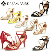 DREAM PAIRS Women's Ankle Strap High Heel Sandals Dress Shoes Wedding Party