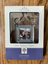 Hallmark The Family Tree Glass  Metal ornament picture frames GENERATIONS