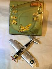 WORKING VINTAGE DINKY TOYS USAF REPUBLIC P47 THUNDERBOLT WW2 FIGHTER PLANE VGC