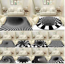 Tapis de sol Salon Chambre Illusion Antidérapant 3D - Plusieurs modeles dispo