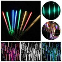 10-50cm 100/192 LED Lights Meteor Shower Rain 8 Tube Xmas Snowfall Tree Outdoor