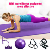 7Pcs/set Exercise Yoga Fitness Equipment Yoga Mat Pilates Ball Skipping Rope US