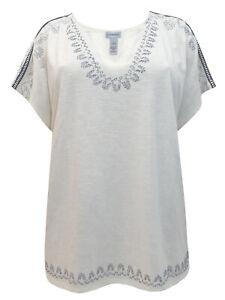 Catherines ladies t-shirt top plus size 20/22 24/26 28/30 beige pure cotton