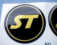 (ST60SG) 4x ST Embleme für Nabenkappen Felgendeckel 60mm Silikon Aufkleber