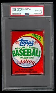 1982 Topps Baseball Wax Pack PSA 8 Possible Cal Ripken Jr. Rookie New Holder