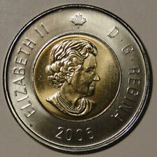 BU UNC Canada 2006 Toonie $2 Dollar Coin Date bottom Maple Leaf variety