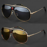 80's Mens Womens Retro Fashion Designer Aviator Vintage Classic Sunglasses Black