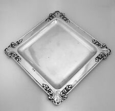 Austrian Arts and Crafts Square Serving Tray 800  Silver 1910