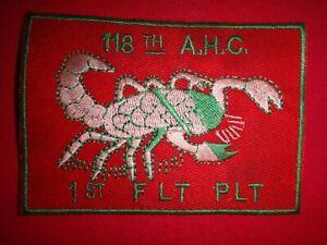 1st Vol Platoon 118th Assaut Hélicoptère Company Scorpions Vietnam Guerre Pièce