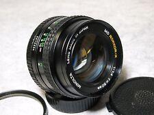 Minolta MD Rokkor-X 50mm f1.4 Manual Focus Prime Lens w/ Caps Excellent ++