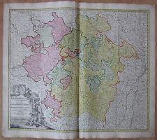 HOMANN: Atlas Map of France Lorraine Nancy Metz - 1747