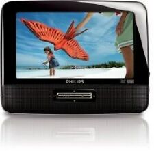 """Philips PD9012 Portable DVD Player 9"""" W/Headrest Mounting Straps & Car Charger"""