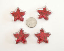 Red Star Pendant 37x42mm 4 ct. lot for Bubblegum Gum Ball Chunky Necklace