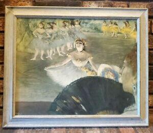 LA DANSEUSE AU BOUQUET Edgar Degas lithograph NYGS original reproduction DANCER