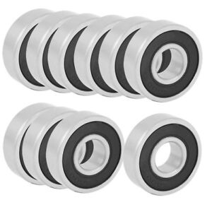 H● 10Pcs 6000RS Shielded Deep Groove Radial Ball Bearings 10mmx26mmx8mm