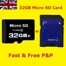 32GB Class 10 Micro SD Card & Adapter Flash Storage Media Memory UK