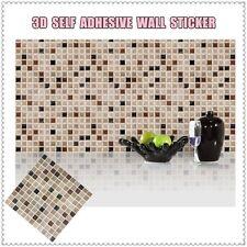 Mosaic Tile Self Adhesive Wall Sticker Vinyl Decal Bathroom Kitchen Home Decor J