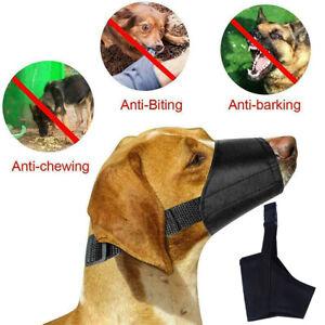 Hunde-Maulkorb Nylon mit Sicherheitsverschluß Verstellbar Beißschlaufe Haustier
