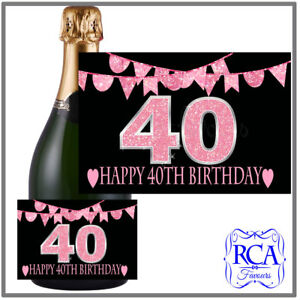 Number Birthday Sticker / Bottle Labels to fit champagne style 17th, 18th, 21st