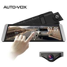 Auto-Vox 9.88' Dual Lens Dvr Rear View Mirror Dash Cam + Backup Camera Gps Ldws