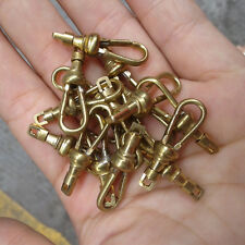 4X Pocket Watch Dress Chain Brass 24mm Rotatable Yellow Fasteners Clasps Locks