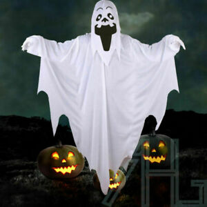 Adult Halloween Comedy Ghost White Sheet Style Costume Scary Fancy Dress Outfit